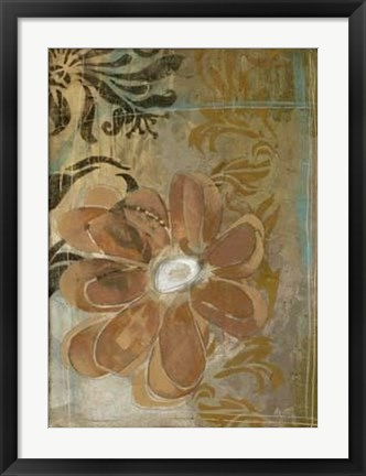Framed Floral Abstraction II Print