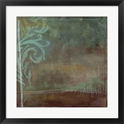 Framed Lush Filigree II Print