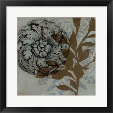 Framed Dusty Rosettes II Print