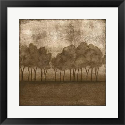 Framed Trees At Dusk II Print