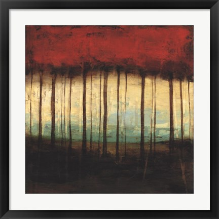 Framed Autumnal Abstract I Print