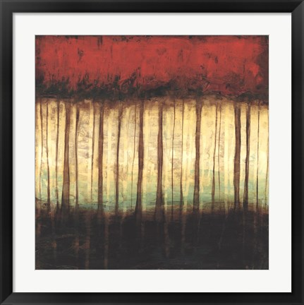 Framed Autumnal Abstract II Print