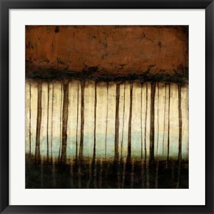 Framed Autumnal Abstract IV Print