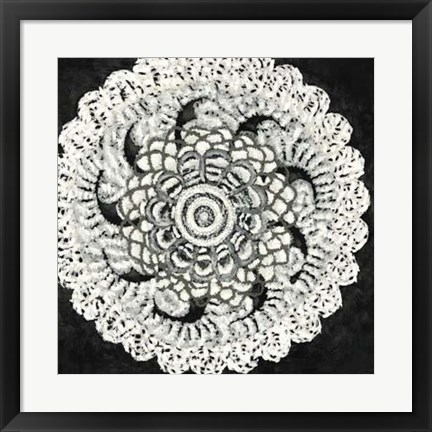 Framed Abstract Rosette I Print