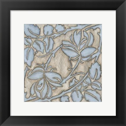 Framed Silver Filigree IX Print