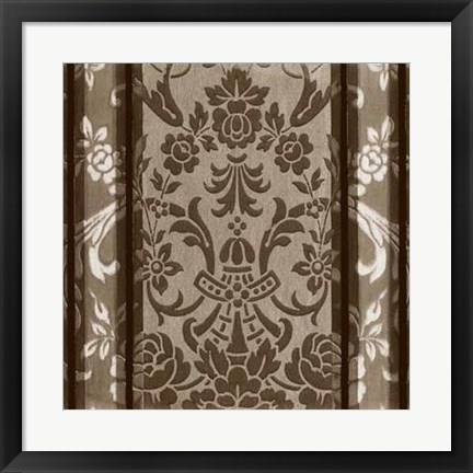 Framed Vintage Wallpaper III Print