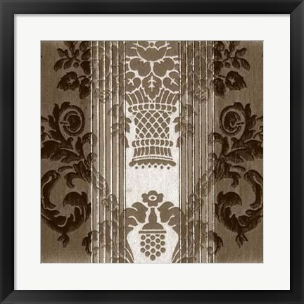 Framed Vintage Wallpaper IV Print