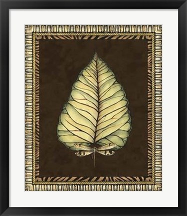 Framed Safari Leaves I Print