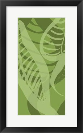 Framed Shades Of Green I Print