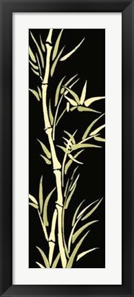 Framed Asian Bamboo Panel II Print