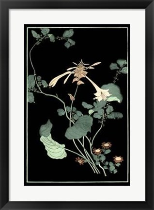 Framed Midnight Floral I Print