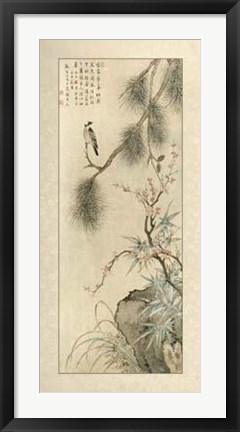 Framed Pine And Bamboo Print