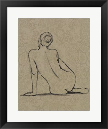 Framed Sophisticated Nude II Print