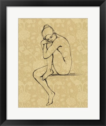 Framed Sophisticated Nude IV Print