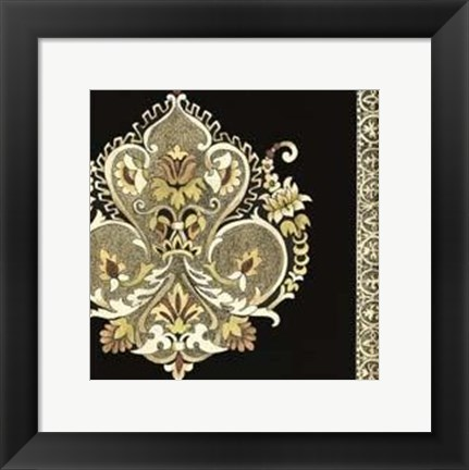 Framed Small Regal Adornments II Print