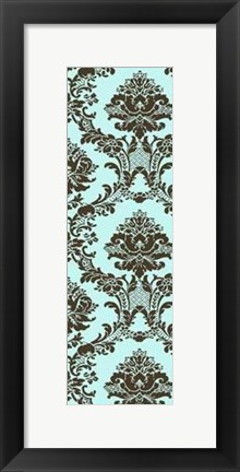 Framed Small Vivid Damask In Blue II Print