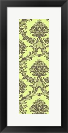Framed Small Vivid Damask In Green II Print