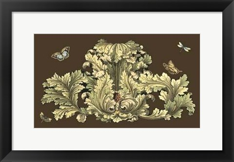 Framed Small Nature's Splendor On Chocolate I Print