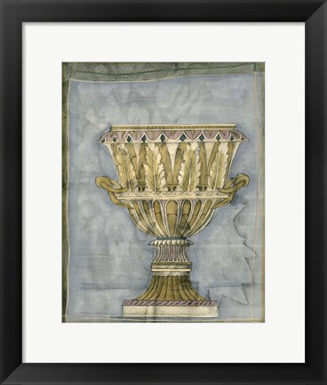 Framed Small Urn And Damask IV Print