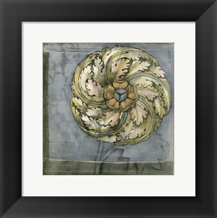 Framed Small Rosette and Damask III Print