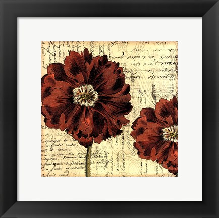 Framed Printed Vintage Composition II Print