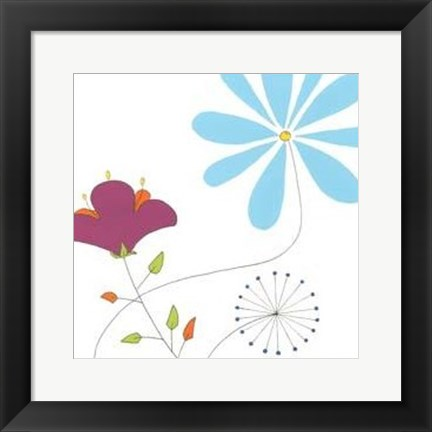 Framed Playful Blooms II Print