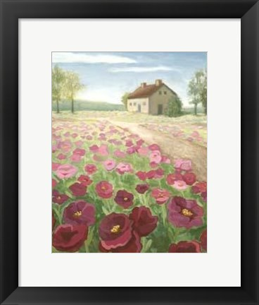 Framed Pink Meadow Print