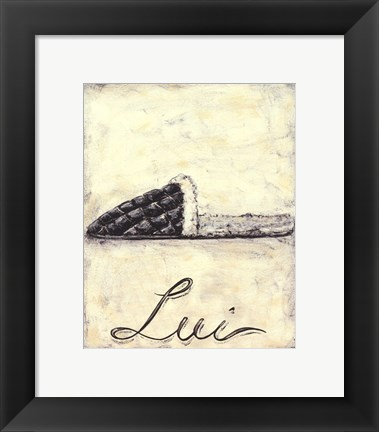 Framed Lui- French Cozy Slipper Print