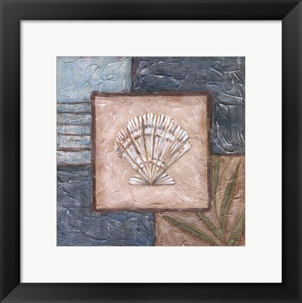 Framed Large Shell Montage II Print