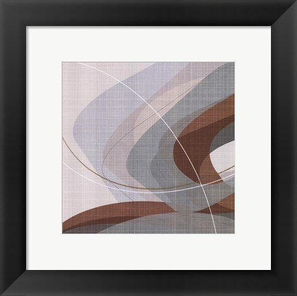 Framed Mint Ripple I Print