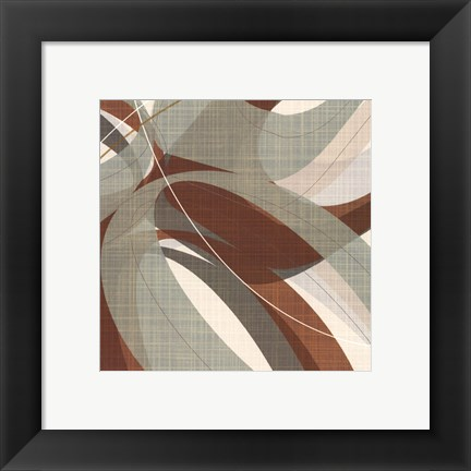 Framed Mint Ripple IV Print