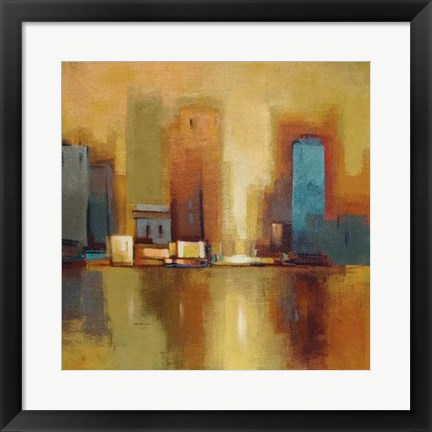 Framed City Reflections II Print