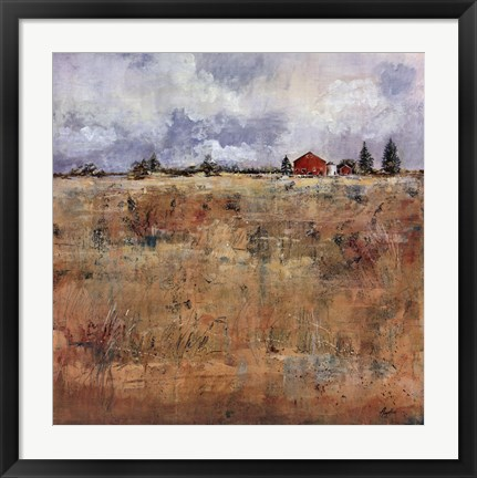 Framed Field Of Gold I Print