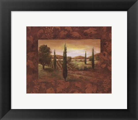 Framed Vineyard Morning I Print