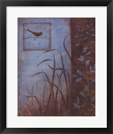Framed Evening Song II Print