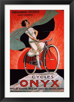 Framed Cycles Onyx Print