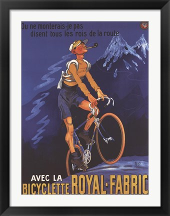 Framed Cycles Royal Fabric Print