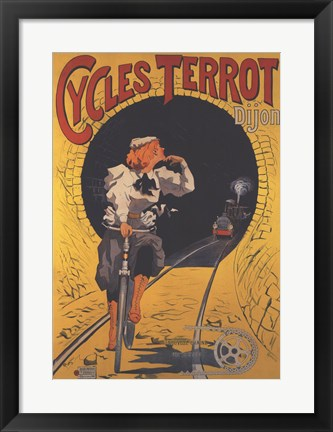 Framed Cycles Terrot Print