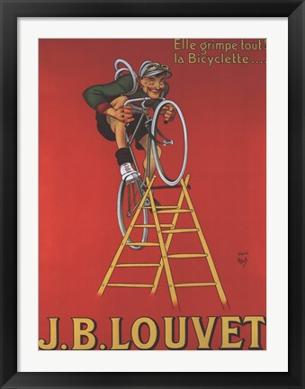 Framed Cycles Louvet Print