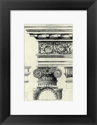 Framed English Architectural I Print