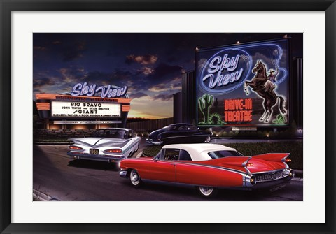 Framed Sky View Drive-In Print