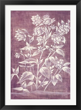 Framed Floral Tapestry III Print