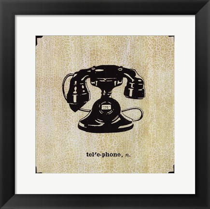 Framed Office Telephone Print