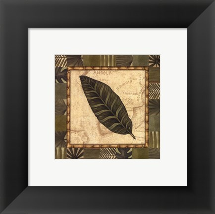 Framed Tropical Leaf III - Special Print