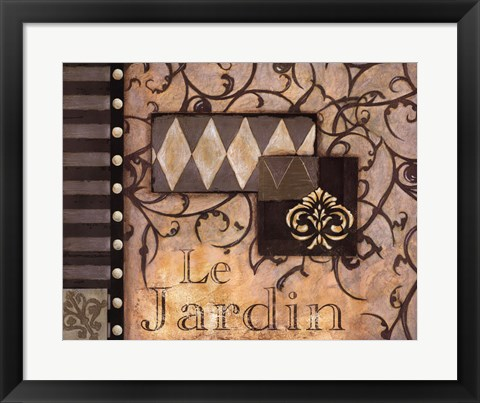 Framed Le Jardin - Cs Print