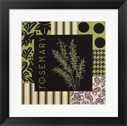 Framed Herbal Zest I Print