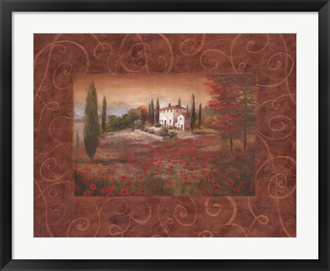Framed Fields Of Tuscany II Print