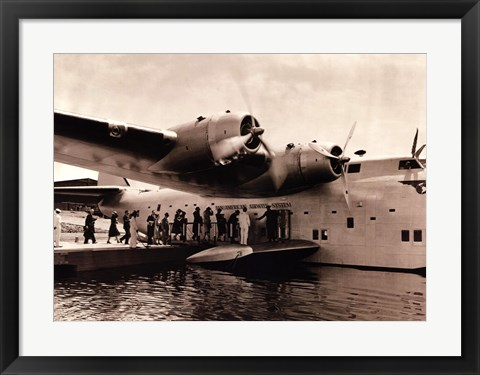 Framed Clipper Flying Boat Print