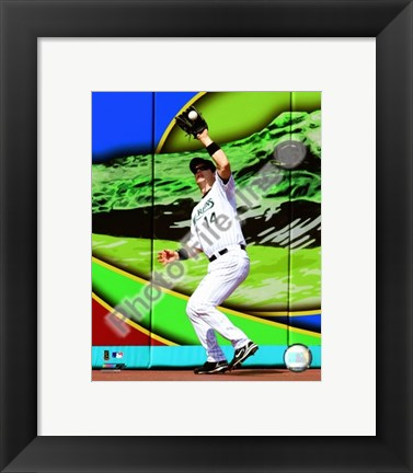Framed Josh Willingham 2008 Fielding Action Print