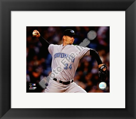 Framed A.J. Burnett 2008 Pitching Action Print